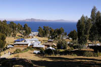 Lake Titicaca veiwed from Amantini