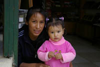 Peruvian mother and child