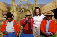Women of the Uros floating reed islands