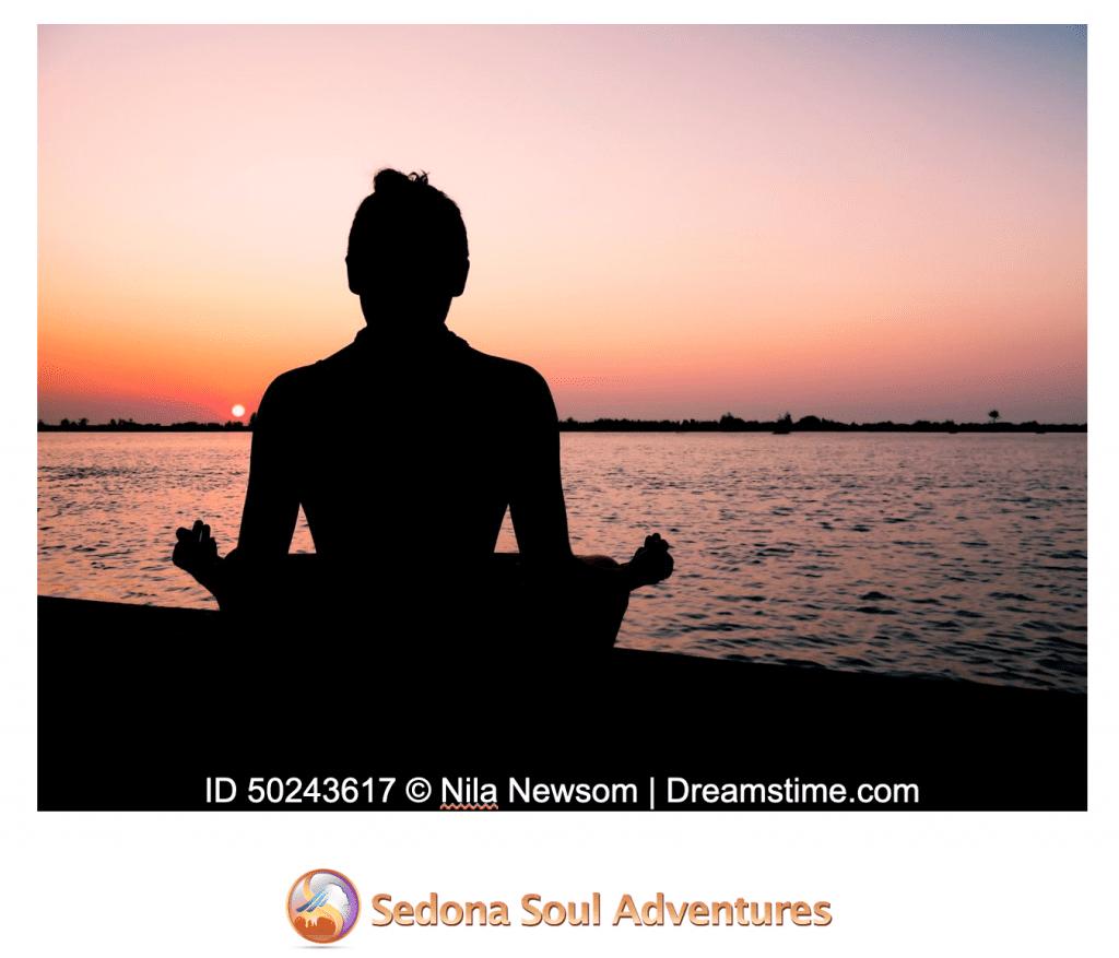 meditate outside