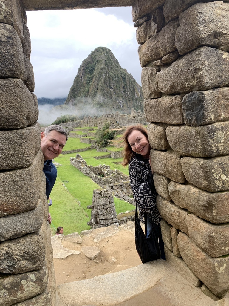 Debra & Richard Peeking Peru