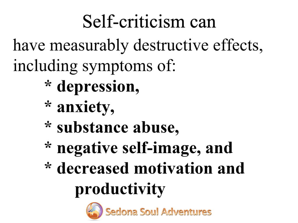 self criticism effects