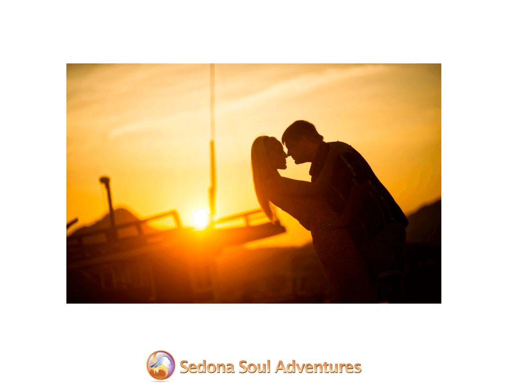happy couple sunset