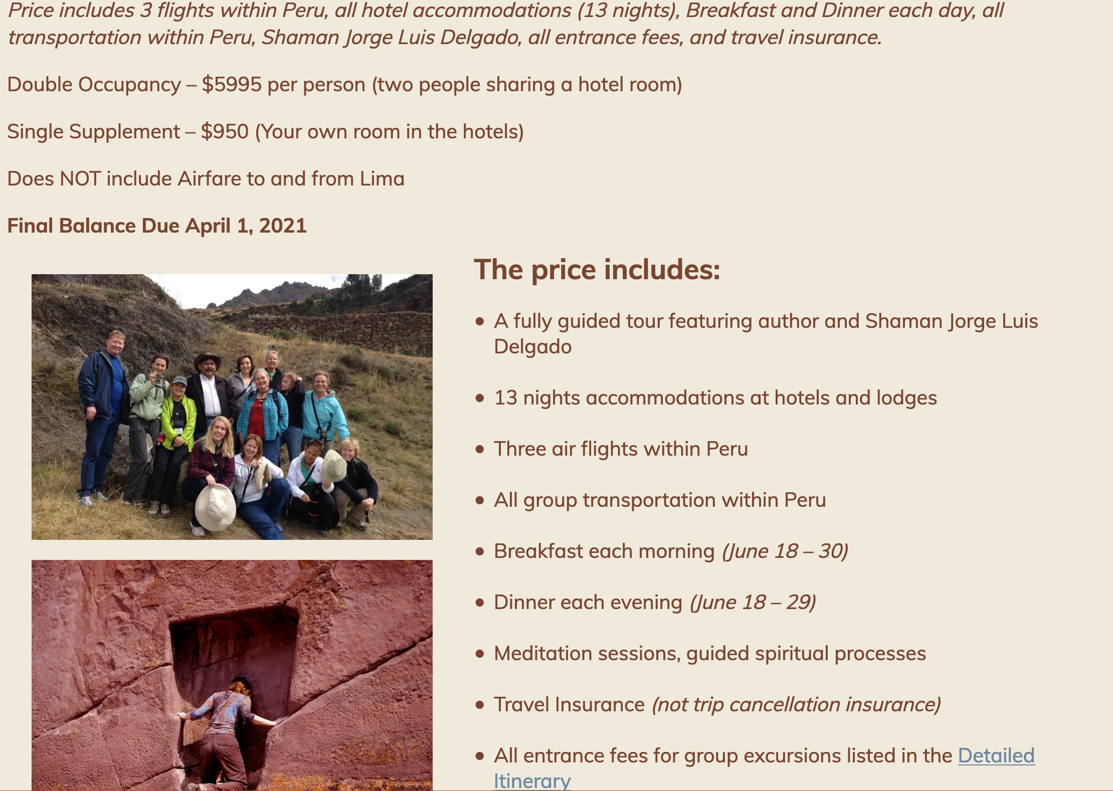 peru pricing - new